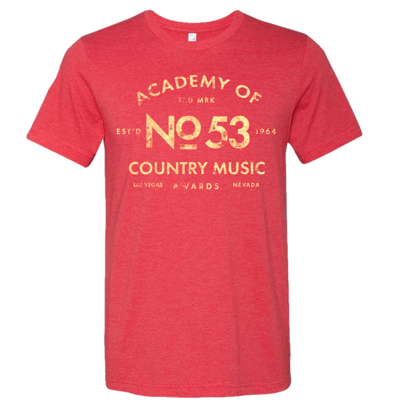 Academy of Country Music Unisex Heather Red Tee