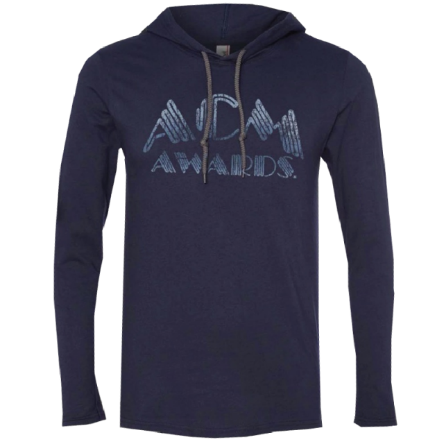 Academy of Country Music Long Sleeve Navy Hooded Tee