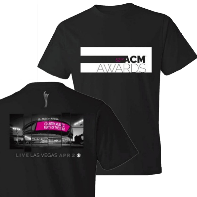 52nd Academy of Country Music Black T Mobile Arena Tee