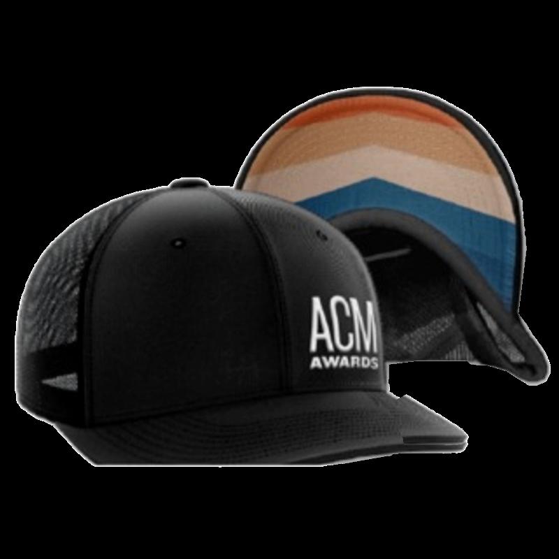 ACM Black Ballcap w/ Offset Logo