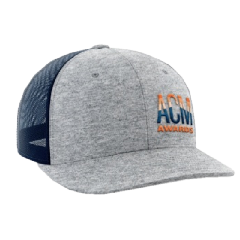 ACM Heather Grey and Navy Ballcap