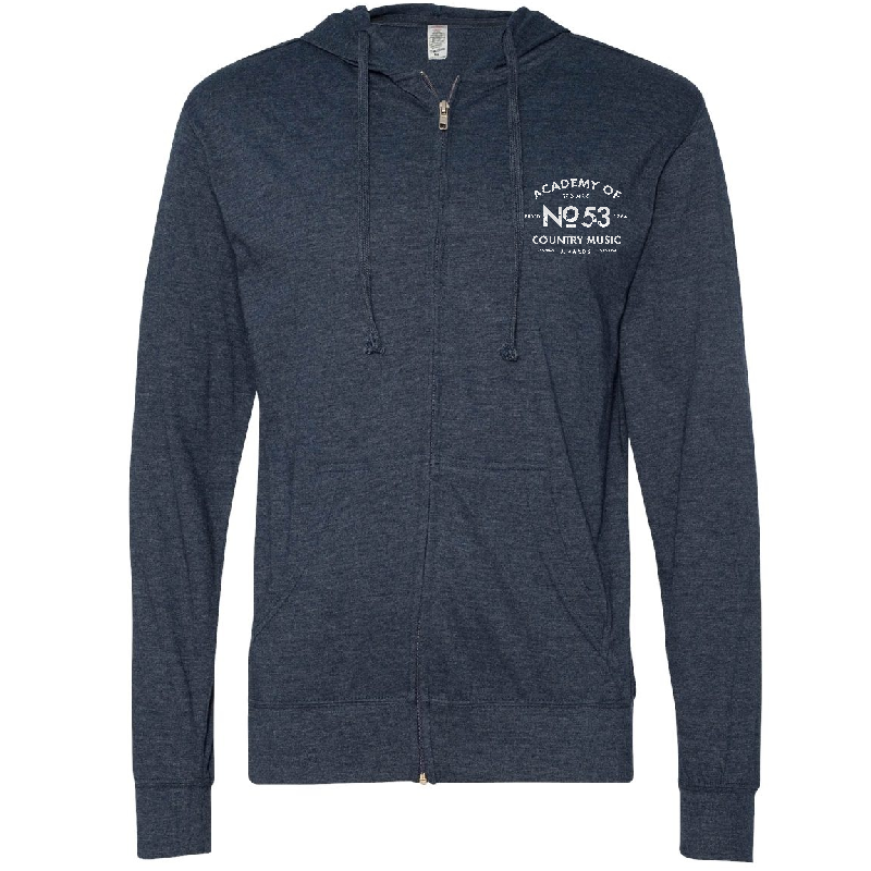 Academy of Country Music Heather Navy Zip Up Hoodie
