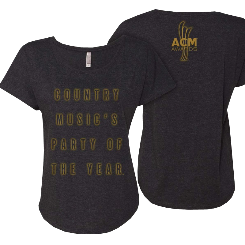 Academy of Country Music Vintage Black Dolman Tee