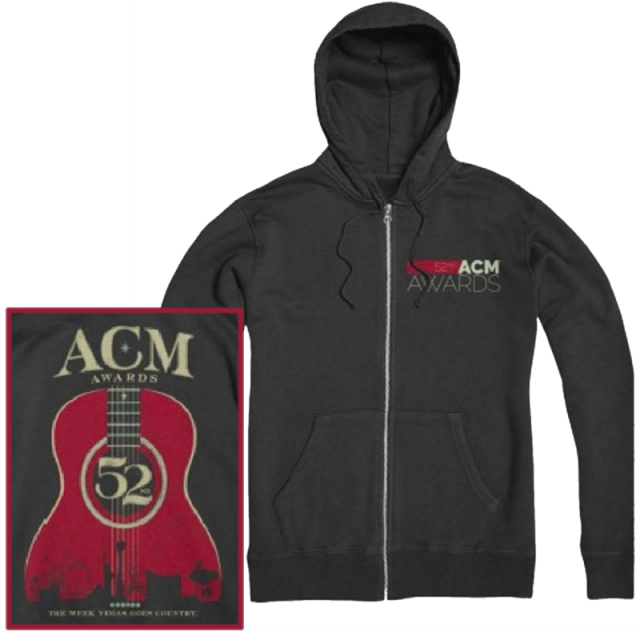 Academy of Country Music Charcoal Heather Zip Up Hoodie
