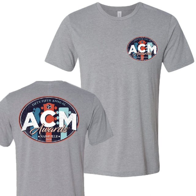 55th ACM Awards Athletic Grey Tee- PRESALE