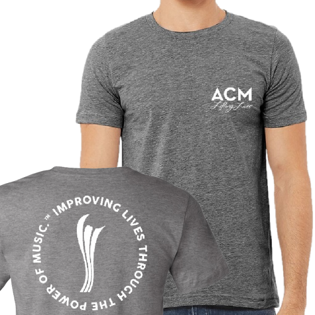ACM Deep Heather Lifting Lives Tee- PRESALE