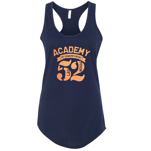 52nd Academy of Country Music Ladies Navy Racerback Tank