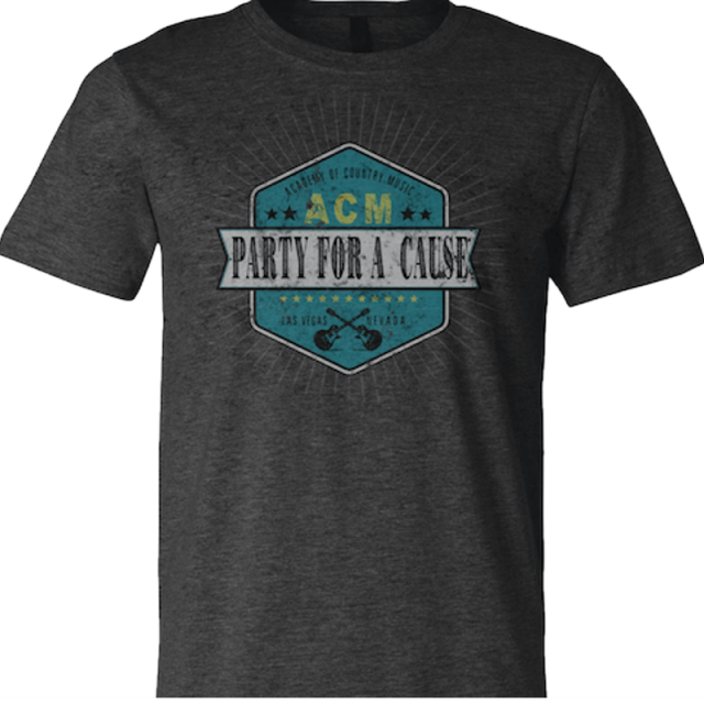 Academy of Country Music Heather Charcoal Tee- PFAC