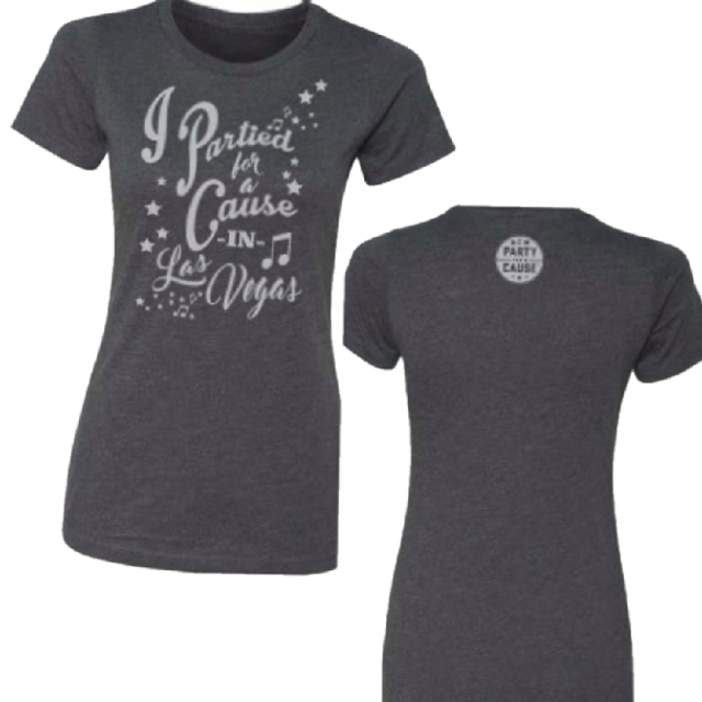 Academy of Country Music Ladies Heather Charcoal Tee- PFAC