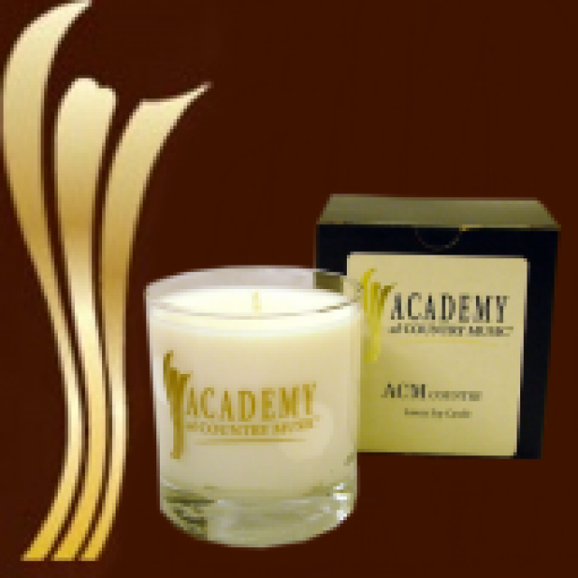 Academy of Country Music Vanilla Candle/Beverage Glass
