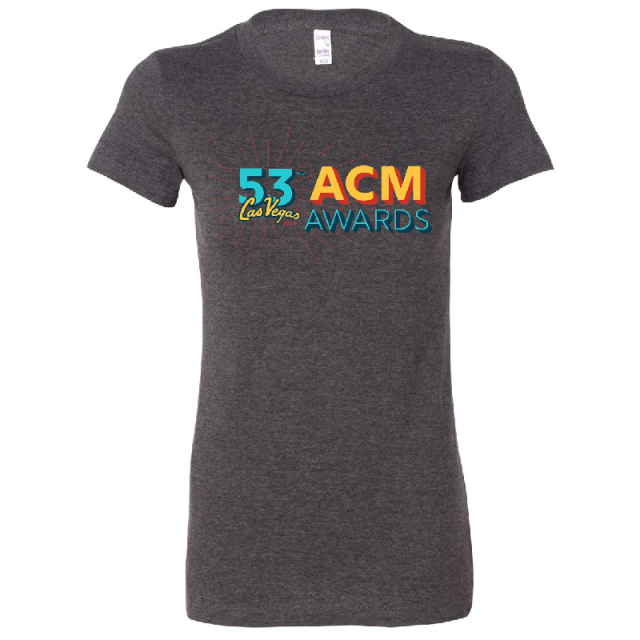Academy of Country Music Ladies Dark Grey Heather Tee