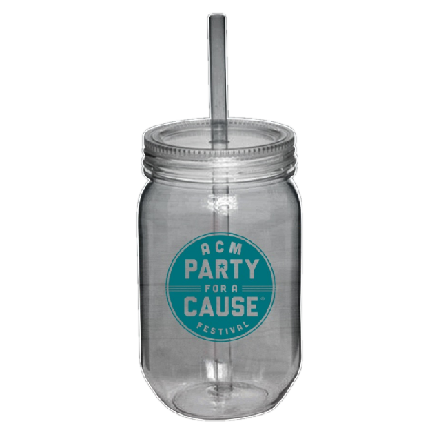 Academy of Country Music Pary For A Cause Acrylic Mason Jar