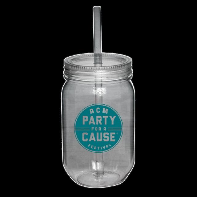 Academy of Country Music Pary For A Cause Acrylic Mason Jar