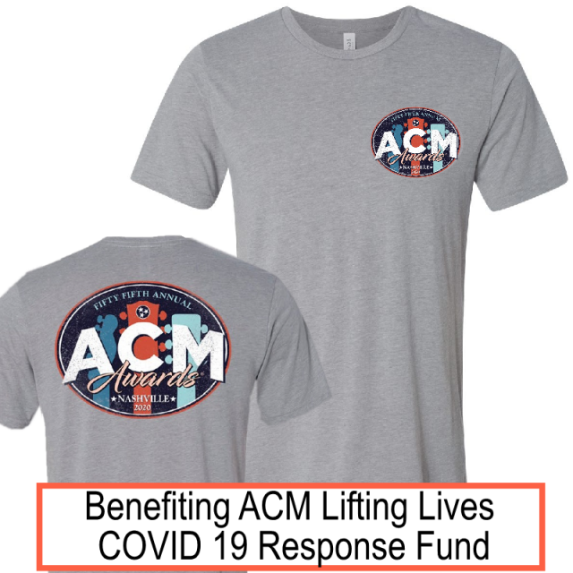 55th ACM Awards Athletic Grey Tee- PRESALE