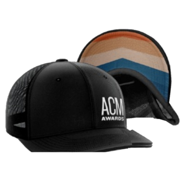 ACM Black Ballcap w/ Offset Logo