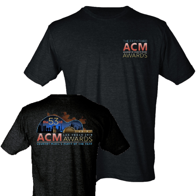 Academy of Country Music Unisex Heather Graphite Tee