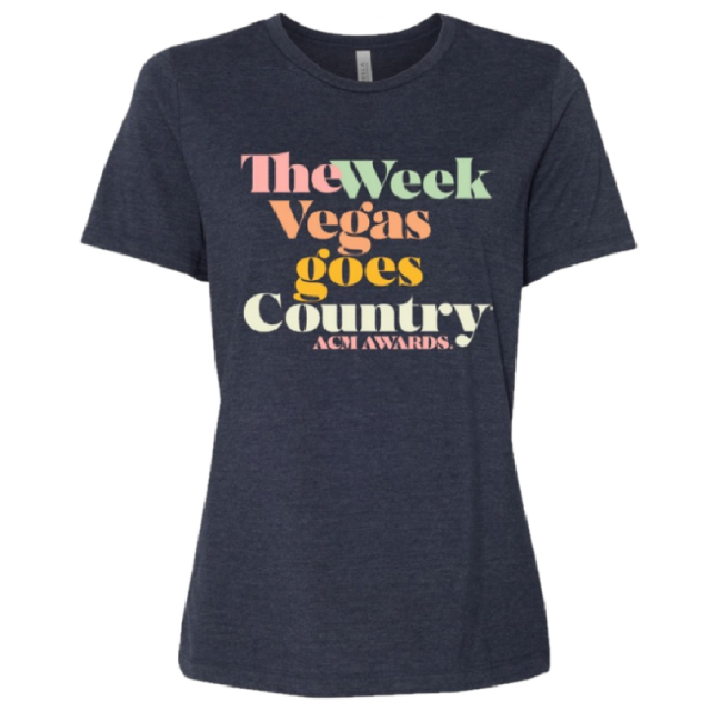 55th ACM Awards Ladies Heather Navy Tee